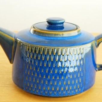 デンマーク/SOHOLM/スーホルム/陶器のティーポット(ブルー)の商品写真