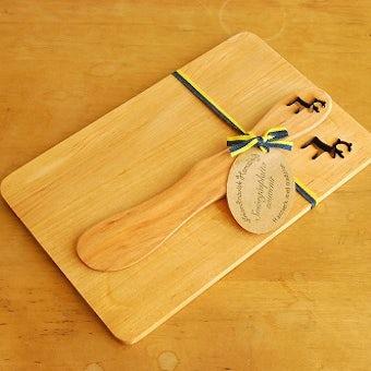 【取り扱い終了】スウェーデン/SKANDINAVISK HEMSLOJD/バターナイフ&ボードセット(トナカイ)の商品写真