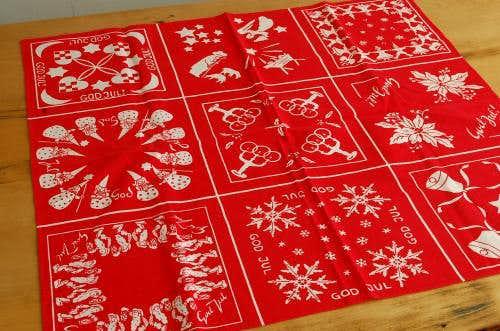 スウェーデンで見つけたクリスマスモチーフのセンタークロス(GOD JUL・レッド)の商品写真
