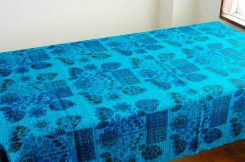 スウェーデンで見つけたカーテン2枚セット(ブルー)の商品写真