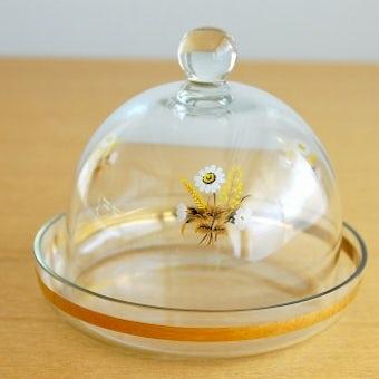 スウェーデンで見つけたお花模様の小さなガラスドームの商品写真