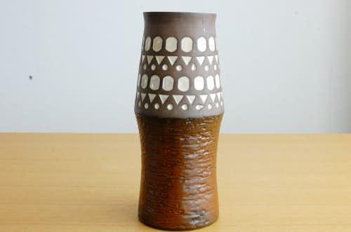 Upsala Ekeby/ウプサラエクビィ/Mari Simmulson/陶器の花瓶(ブラウン)の商品写真
