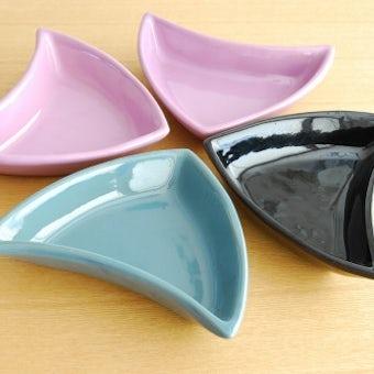 スウェーデン/GABRIEL窯/三角形のプレート4枚セットの商品写真