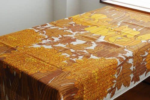 スウェーデンで見つけたカーテン2枚セット(ブラウン)の商品写真