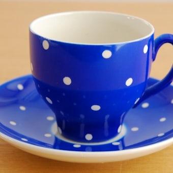 GEFLE(Upsala Ekeby)/AMANITA/コーヒーカップ&ソーサー(ブルードット)の商品写真