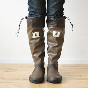 日本野鳥の会/長靴/ブラウン(Sサイズ)の商品写真