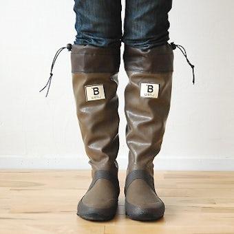 日本野鳥の会/長靴/ブラウン(Mサイズ)の商品写真