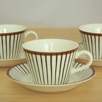グスタフスベリ スピサリブ GUSTAVSBERG  SPISA RIBB  コーヒーカップ&ソーサー スティグ・リンドベリの商品写真