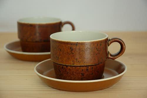 グスタフスベリ コック GUSTAVSBERG  COQ ティーカップ&ソーサー スティグ・リンドベリデザインの商品写真