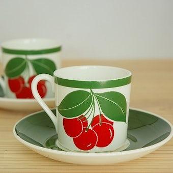 グスタフスベリ GUSTAVSBERG  KORSBAR  コーヒーカップ&ソーサー スティグ・リンドベリデザインの商品写真