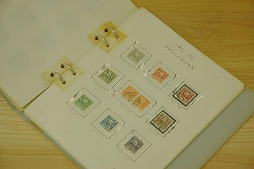 スウェーデンで見つけた古い切手コレクション帳の商品写真