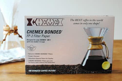 【在庫限り取扱終了】CHEMEX/ケメックス/コーヒーメーカー3人用/ペーパーフィルター(100枚入)の商品写真