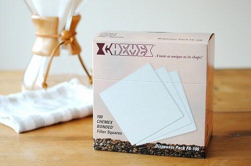【在庫限り取扱終了】CHEMEX/ケメックス/コーヒーメーカー6人用/ペーパーフィルター(100枚入)の商品写真