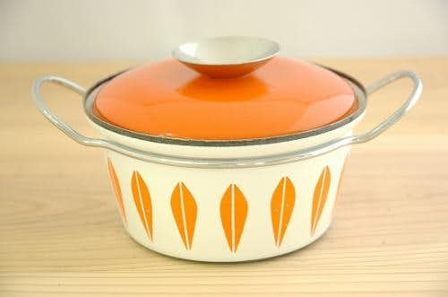 CATHERINEHOLM pan/キャサリンホルム 両手鍋 オレンジ×ホワイト(XS)の商品写真