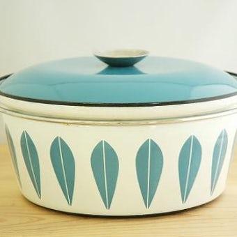 CATHERINEHOLM pan /キャサリンホルム 両手鍋 ターコイズブルー×ホワイト(L)の商品写真