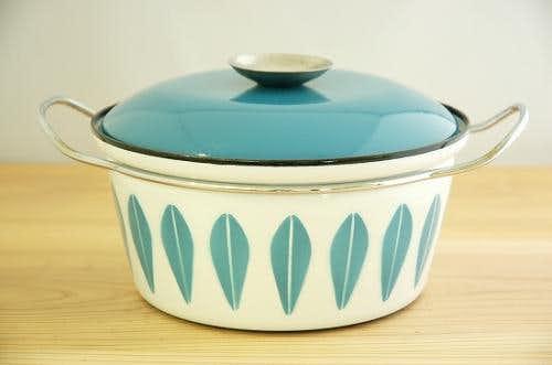 CATHERINEHOLM pan/キャサリンホルム 両手鍋 ターコイズブルー×ホワイト(M)の商品写真