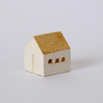 よしおかれい/家のオブジェ/イエローの屋根・民家(S)の商品写真