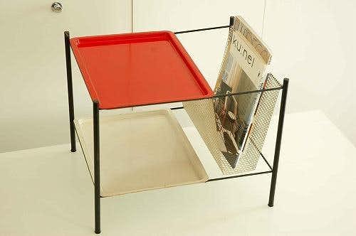 デンマークからやって来た小さな家具/マガジンラック(トレー付き)の商品写真