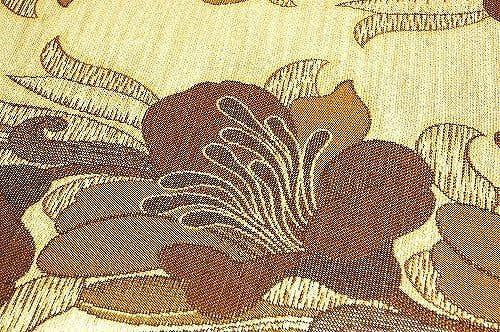 スウェーデンで見つけたお花モチーフの織カーテンの商品写真