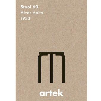 【取扱い終了】artek/アルテック/シルクスクリーンポスター/スツール60の商品写真