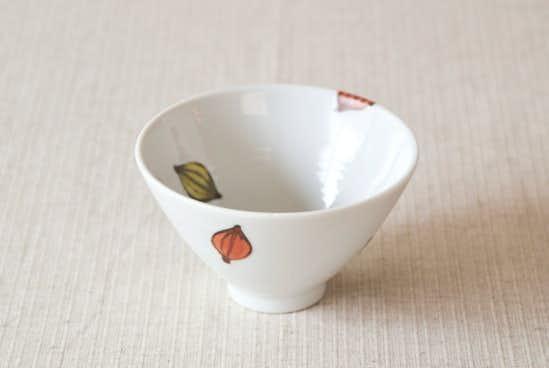 【取り扱い終了】九谷焼/徳永遊心/色絵種子模様/飯碗(径:約11.5cm)の商品写真