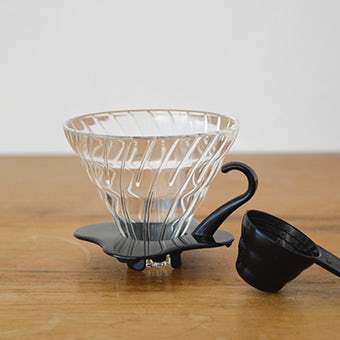 HARIO/ハリオ/V60耐熱ガラス透過ドリッパー/1~4杯用の商品写真
