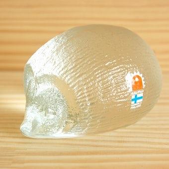 フィンランド製/HUMPPILA/ガラスオブジェ はりねずみ(ペーパーウェイト)の商品写真