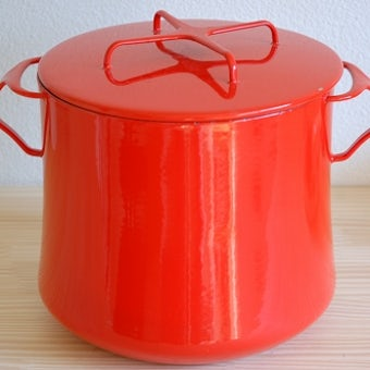 これはレア! DANSK/ダンスク/コベンスタイル/ホーロー深鍋(レッド)の商品写真