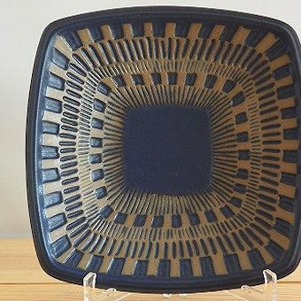 Upsala Ekeby(gefle)/ウプサラエクビイ(ゲフル)/スクエアプレート(ブルー)の商品写真