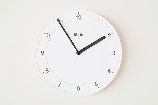 BRAUN/ブラウン/壁かけ時計(ホワイト)の商品写真