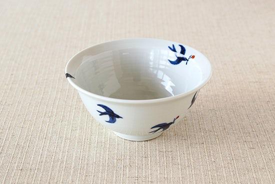 九谷焼/日下華子/つばめ/飯椀の商品写真