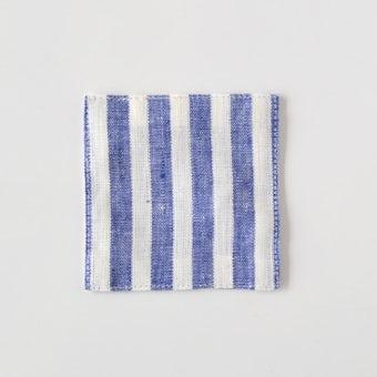 fog linen work/フォグリネンワーク/コースター/ボーダー(ブルーホワイト)の商品写真