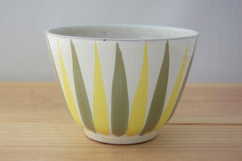 Upsala Ekeby/ウプサラエクビイ/植木鉢(イエローストライプ)の商品写真