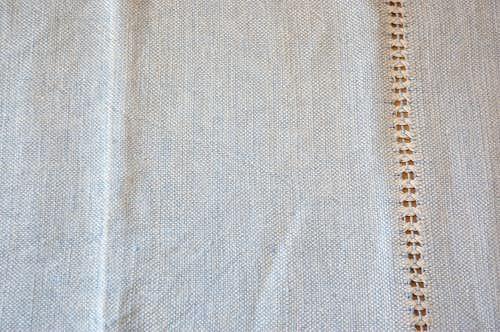 スウェーデンで見つけたサックスブルーが爽やかな織クロスの商品写真
