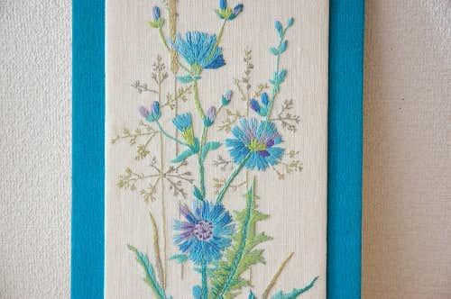 スウェーデンで見つけたお花模様の刺繍/壁掛けパネルの商品写真