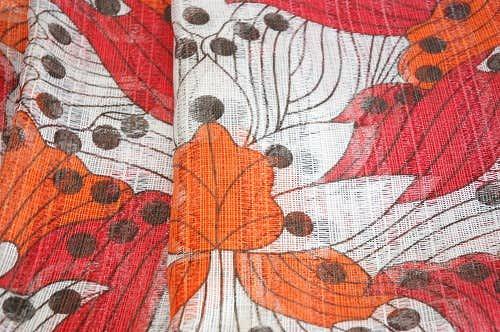 スウェーデンで見つけた織カーテン2枚セットの商品写真