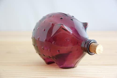 フィンランドで見つけたイノシシのモチーフが可愛いガラス瓶の商品写真
