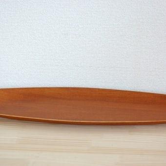 スウェーデンで見つけた木製ロングトレーの商品写真