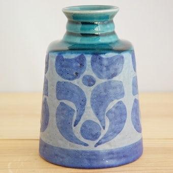 Upsala Ekeby/ウプサラエクビイ/ハンドペイントで描かれた模様が美しい陶器の花瓶の商品写真