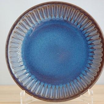 GEFLE/ゲフル/KOSMOS/コスモス/デザートプレート(艶ありブルー)の商品写真