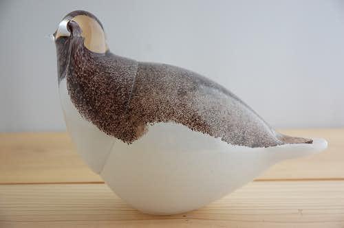 フィンランドで見つけたガラス製の鳥のオブジェの商品写真