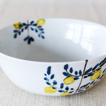 【取扱い終了】九谷焼/米満麻子/レモンの木/6.5寸鉢(径:約19.5cm)の商品写真