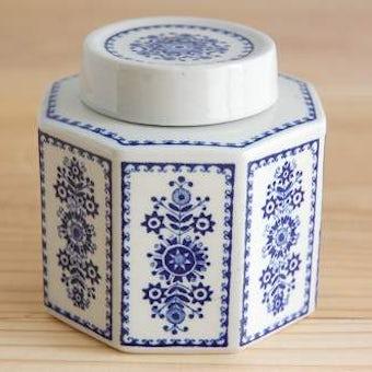ARABIA/アラビア/花模様が上品な陶器のキャニスターの商品写真