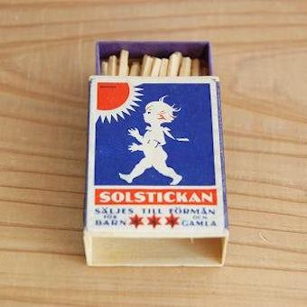 スウェーデンで見つけた古いマッチボックスの商品写真
