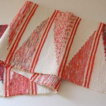 スウェーデンで見つけた裂き織りのマットの商品写真