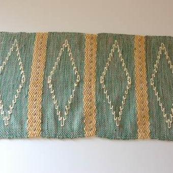 スウェーデンで見つけた織マット(グリーン)の商品写真