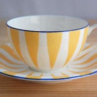 RORSTRAND/ロールストランド/PLUS/ティーカップ&ソーサー(クリームイエロー)の商品写真