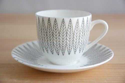 GUSTAVSBERG/グスタフスベリ/SALIX/サーリックス/コーヒーカップ&ソーサー(ブラック)の商品写真