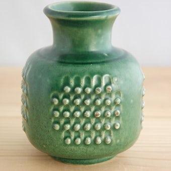 Upsala Ekeby(gefle)/ウプサラエクビイ/陶器の花瓶(深緑色)の商品写真