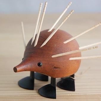 デンマーク製/チーク材/ハリネズミの食卓道具の商品写真